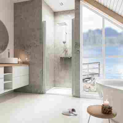 Duschkabine 'Garant' mit Drehtür in Nische, 100 x 200 cm