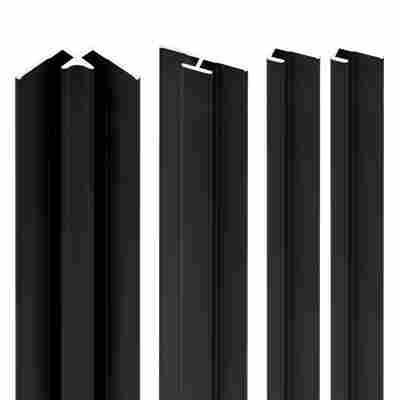 Profilset 'DecoDesign' schwarz 210 cm Aluminium
