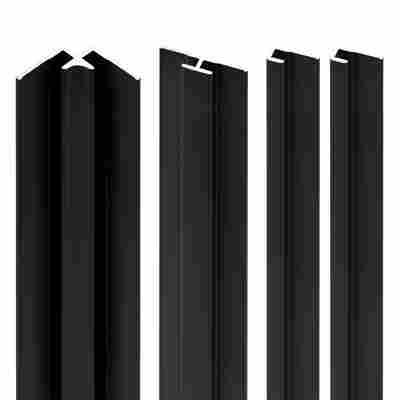 Profilset 'Decodesign' schwarz 255 cm