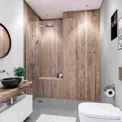 Duschrückwand Holzoptik Nordsee-Altholz 100 x 210 cm