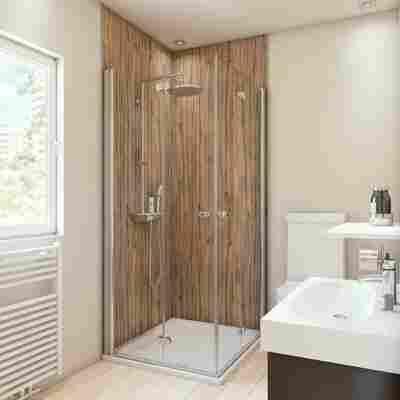 Duschrückwand Holzoptik Eiche 100 x 210 cm