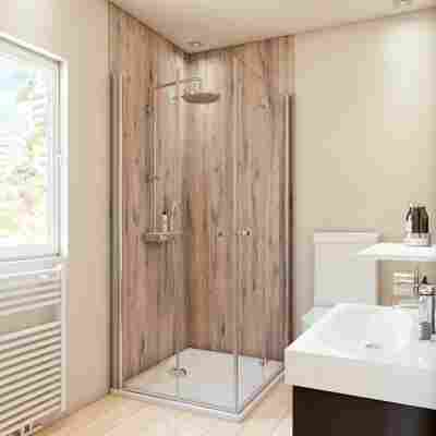 Duschrückwand Holzoptik Landhaus-Eiche 100 x 210 cm