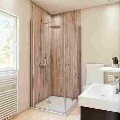 Duschrückwand Holzoptik Landhaus-Eiche 100 x 255 cm