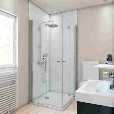 Duschrückwand weiß 90 x 210 cm