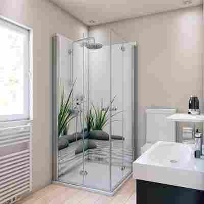 Duschrückwand Motiv Zen & Gras 90 x 90 x 210 cm