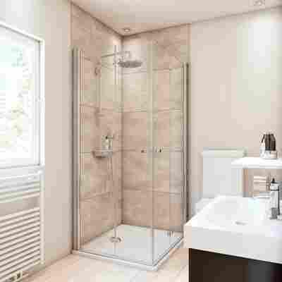 Duschrückwand Fliesenoptik Großformat-Design beige 100 x 255 cm