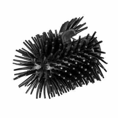 WC-Ersatzbürstenkopf mit Randreiniger, Silikon schwarz Ø 7,5 cm