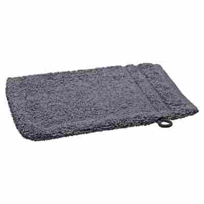 Waschhandschuh grau 21 x 15 cm