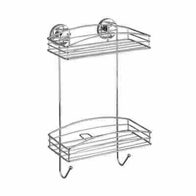 Wandregal 'Vacuum-Loc' verchromt 26 x 43 x 15 cm, 2 Etagen