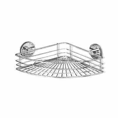 Eckablage 'Vacuum-Loc® Bari' chrom 31,5 x 8,5 x 22 cm
