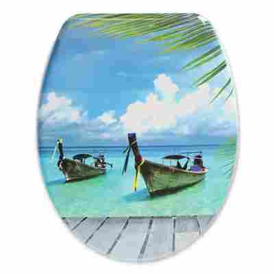 WC-Sitz 'Boote' mit Absenkautomatik blau 45 x 37,6 cm