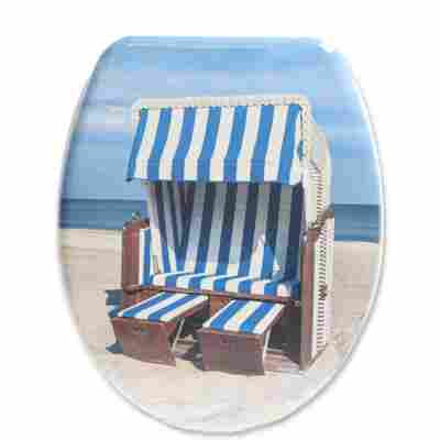 WC-Sitz 'Strandkorb' blau