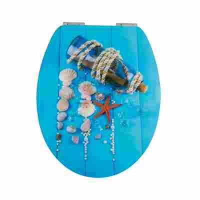 WC-Sitz 'Flaschenpost' mit Absenkautomatik, blau