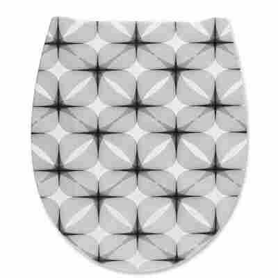 WC-Sitz 'Graphic' schwarz, weiß