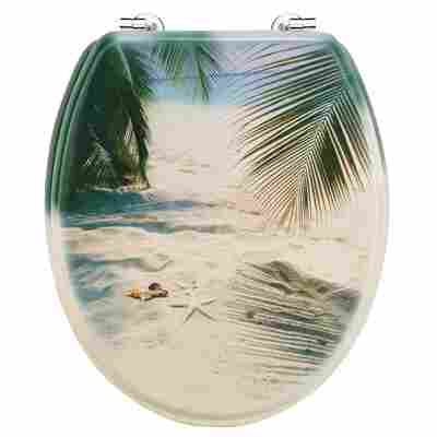 WC-Sitz 'Palmen am Strand', lackiert