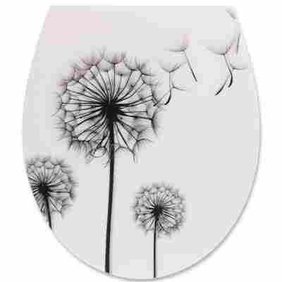 WC-Sitz 'Pusteblume' mit Absenkautomatik, weiß/schwarz