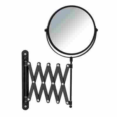Teleskop-Wandspiegel 'Exclusiv' schwarz Ø 16 cm