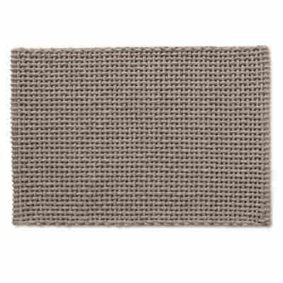 Badteppich Baumwolle/Polyester beige 60 x 90 cm