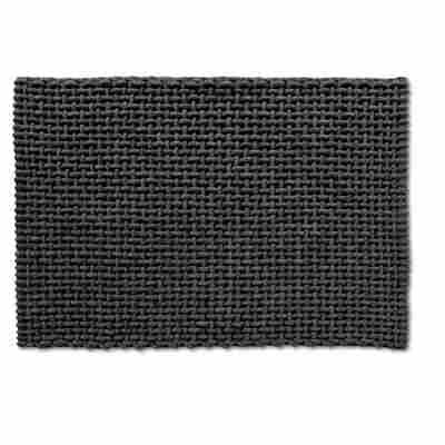 Badteppich Baumwolle/Polyester grau 60 x 90 cm