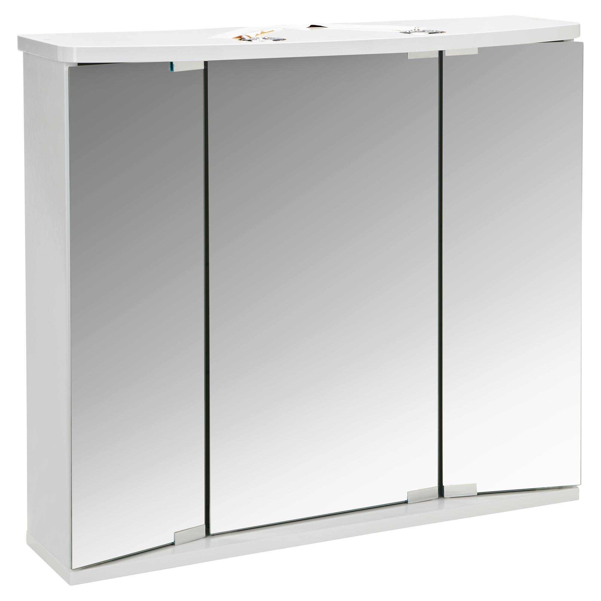 LED-Spiegelschrank \'Funa\' weiß 68 x 60 x 22 cm