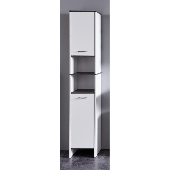 Hochschrank California Weiss Silbern 32 X 180 X 28 Cm ǀ Toom Baumarkt