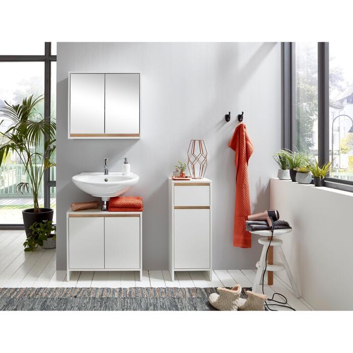 Waschbeckenunterschrank Basic 60 X 55 X 28 Cm Weiss ǀ Toom Baumarkt