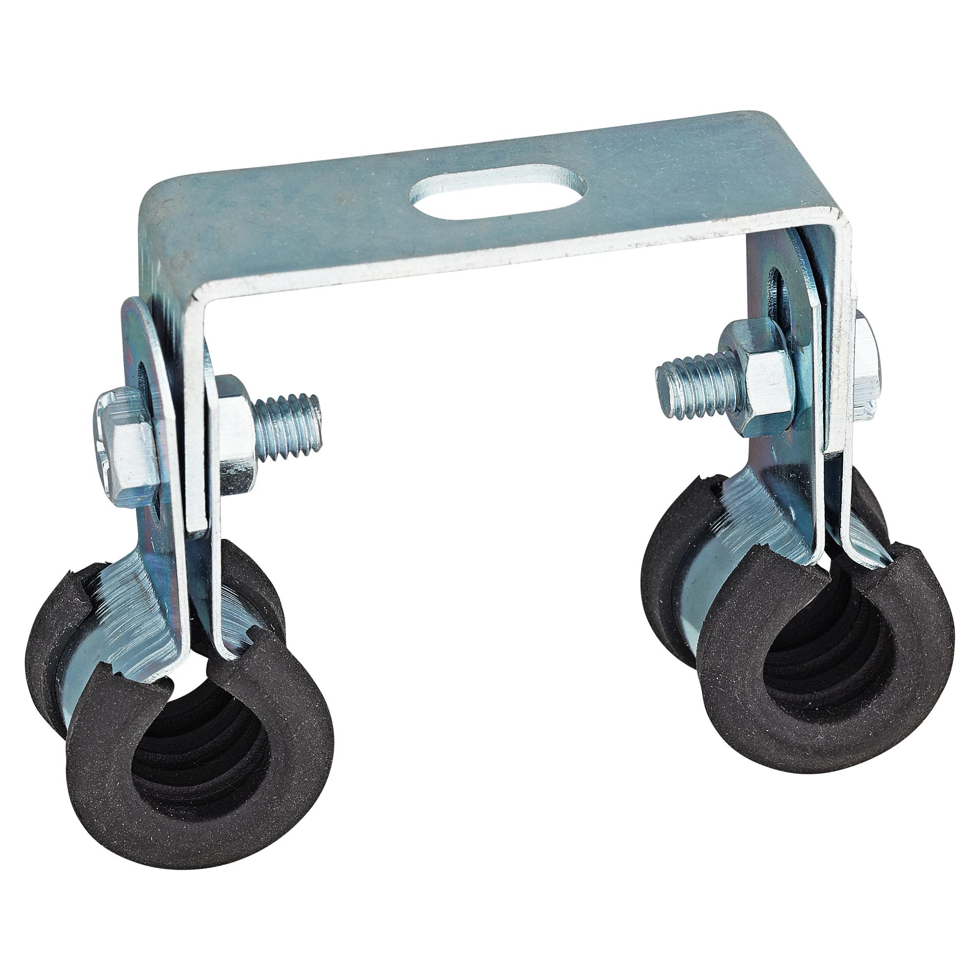 Doppel-Rohrschelle für 2x 12 mm Rohr Hydraulik SET mit 10 Stück