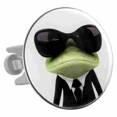 Design Waschbeckenstöpsel XL 'MIB Frog'