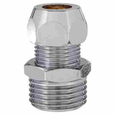 """Verschraubung Metall 1/2"""" AG x 10 mm DG"""
