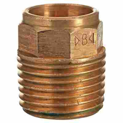 """Zwickwolff Übergangsnippel Rotguss Ø 15 (1/2"""") x 15 mm AG 10 Stück"""