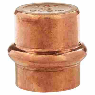 Pressfitting Kappe V-Kontur Kupfer 18 mm