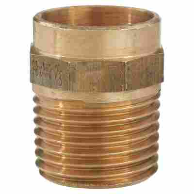 """Übergangsnippel Messing Ø 18 mm x 1/2"""" AG 10 Stück"""