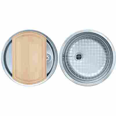 Einbauspüle 'Rondel-Set 60' Ø 430 mm edelstahl glatt