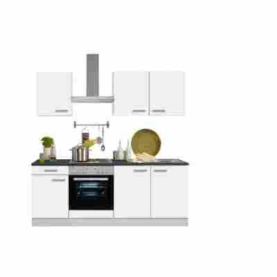 Küchenblock 'Oslo' mit Elektrogeräten weiß 210 cm