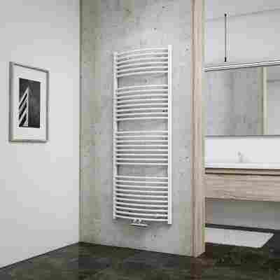 Badheizkörper 'Europa' mit Mittenanschluss, weiß, 153,5 x 60 cm