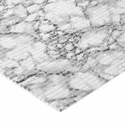 "Matte ""Comfort"" Marmor-Optik weiß-grau 200 x 65 cm"