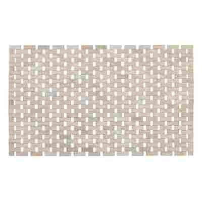 Badematte 'Bamboo' weiß, 50 x 80 cm