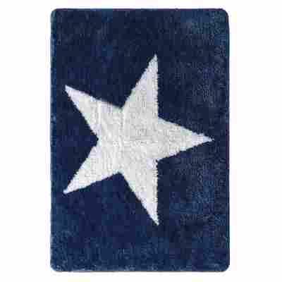 Badteppich 'Star' blau 55 x 85 cm