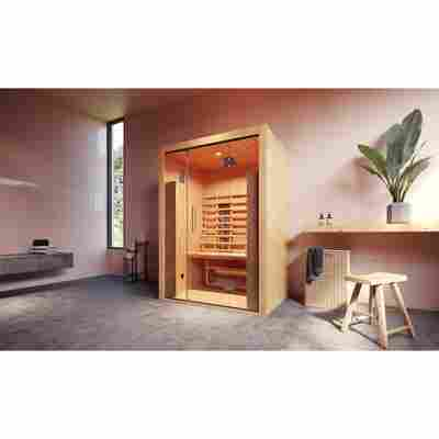 Infrarot-Kabine 'Hamina 2' 137 x 103 cm mit Glasfront
