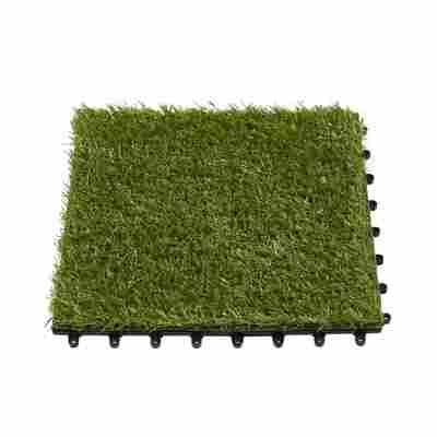 Kunstrasen-Fliese grün 30 x 30 cm, 10 Stück