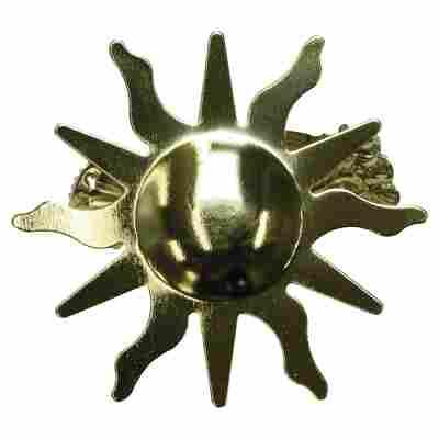 """Dekoklammer """"Sun"""" Metall vermessingt golden"""