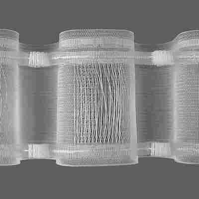 Wellenband transparent 34 x 34 cm