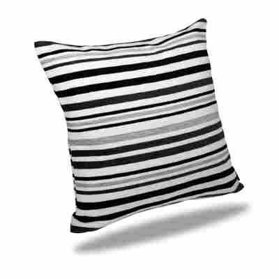 Kissenhülle Oslo grau-schwarz 50 x 50 cm