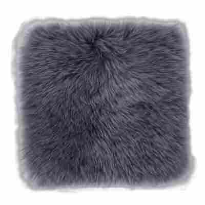 Schaffel-Kissen grau