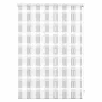 EasyFix Doppelrollo 'Karo' weiß 45 x 150 cm