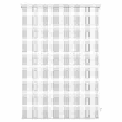 EasyFix Doppelrollo 'Karo' weiß 60 x 150 cm