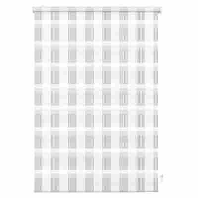 EasyFix Doppelrollo 'Karo' weiß 75 x 150 cm