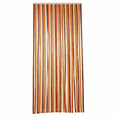 Streifenvorhang braun/beige 90 x 200 cm