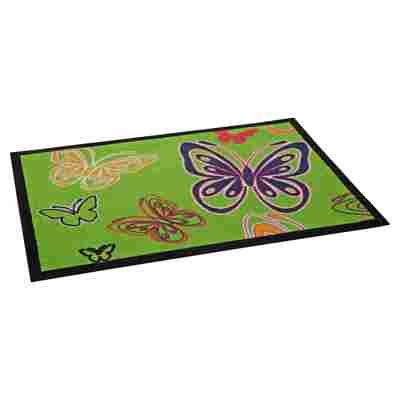 Sauberlaufmatte 'Schmetterling' 70 x 50 cm grün