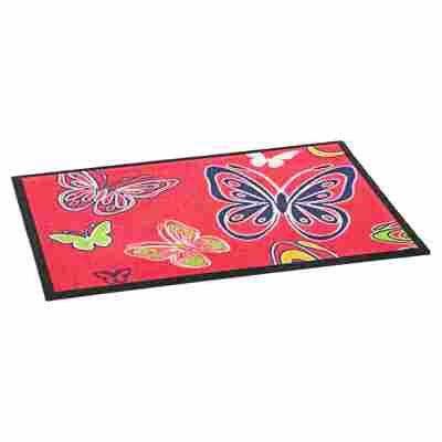 Fußmatte 'Schmetterling' 70 x 50 cm pink